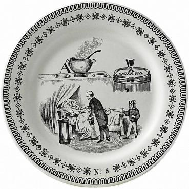 Тарелка для сладостей LES RÉBUS №5 1шт