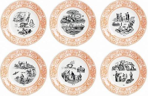 Тарелки десертные LES RÉBUS оранжевый 6шт