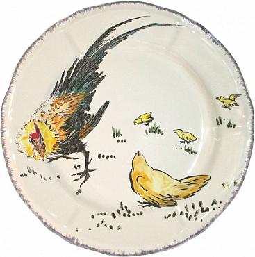 Тарелка десертная GRANDS OISEAUX Coq & poule 1шт