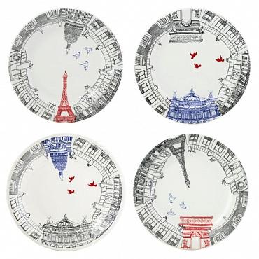 Тарелки десертные Ça C'est Paris 4шт