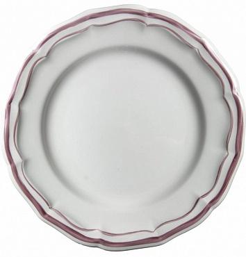 Тарелки десертные FILET COULEUR розовый 4шт