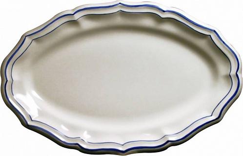 Блюдо овальное FILET COULEUR синий