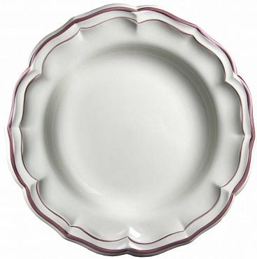 Блюдо круглое глубокое FILET COULEUR розовый