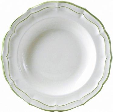 Тарелки глубокие FILET COULEUR зеленый 4шт