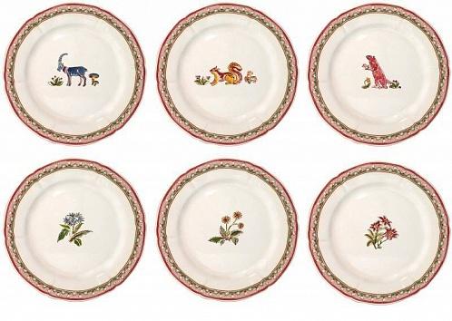 Тарелки десертные JARDIN IMAGINAIRE 6шт