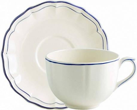 Чайная пара большая FILET COULEUR синий