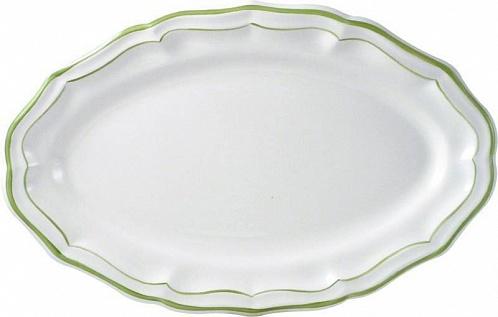 Блюдо овальное FILET COULEUR зеленый
