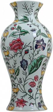 Ваза Japonaise Floral Celadon Dominoté
