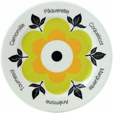 Тарелки для сладостей jaune Marguerite 6шт