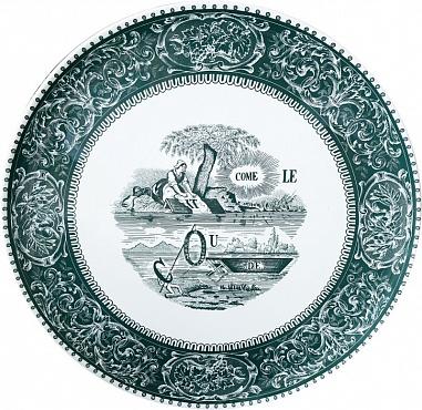 Настенное блюдо «Ребусы» Les Dépareillées